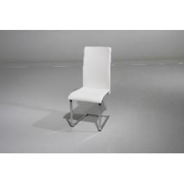 Židle KING  bílá ekokůže