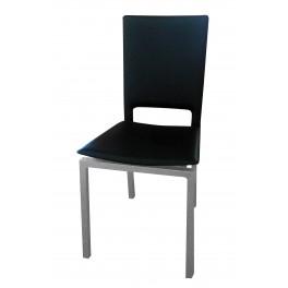Židle SIT  Alu / eko černá