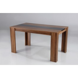 Jídelní stůl CREDO 160x90 ořech/černý
