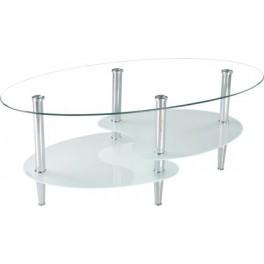Konferenční stůl TT 519  sklo/bílé sklo