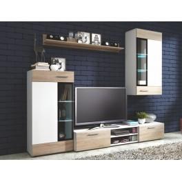 Obývací stěna TANGO bílá/dub sonoma