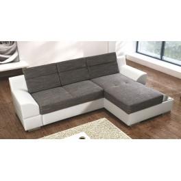 Rohová sedací souprava TOBAGO  ekokůže bílá/šedá