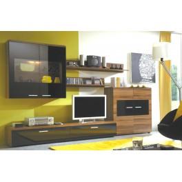 Obývací stěna STURM ořech / černá