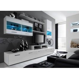 Obývací stěna LOGO 2 Bílá lesk / bílá